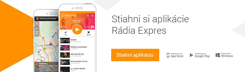 Mobilné aplikácie Rádia Expres